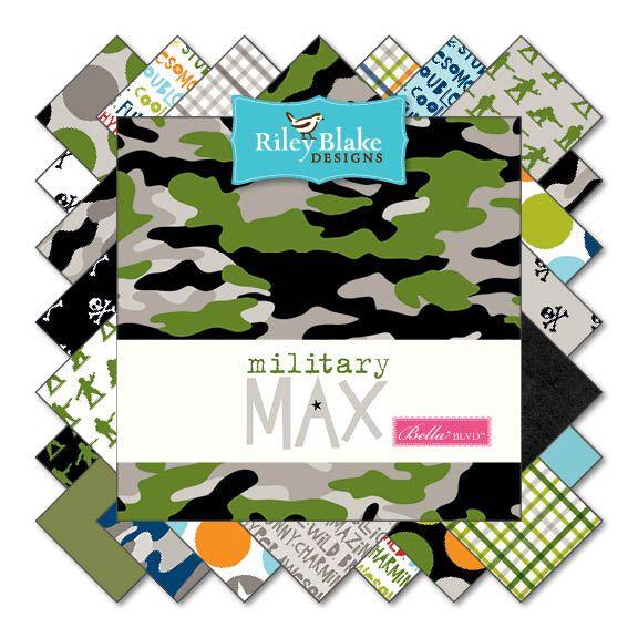 Riley Blake Military Max Plaid