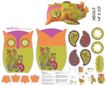 Benartex Benartex Jungle Club Pillow Owlivia