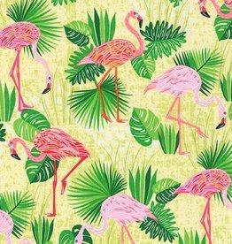Robert Kaufman Flamingo Paradis