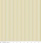 Riley Blake Riley Blake fabric Gold Wonderland stripe