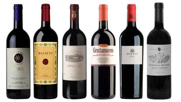 Bolgheri wijnen