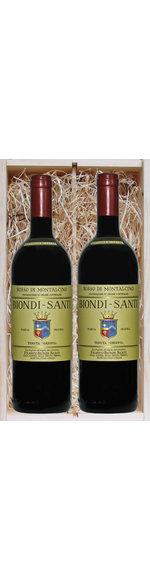 Geschenkkistje met 2 flessen Rosso di Montalcino DOC 2015 - Biondi Santi