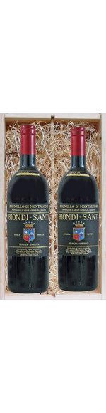 Cadeau - houten kistje - 2 flessen Brunello di Montalcino DOCG- 2013 - Tenuta Greppo - Biondi Santi