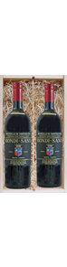 Cadeau - houten kistje - 2 flessen Brunello di Montalcino - Tenuta Greppo - Biondi Santi