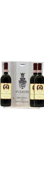 Houten Kist 3 flessen - Brunello di Montalcino DOCG - 2013-2014-2015 - Fuligni