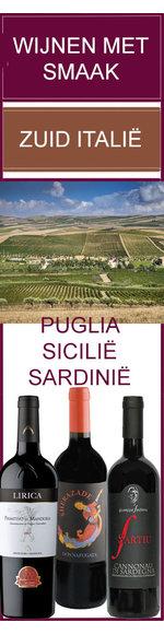 WIJNENMETSMAAK - ZUID ITALIE - PUGLIA- SICILIE - SARDINIE
