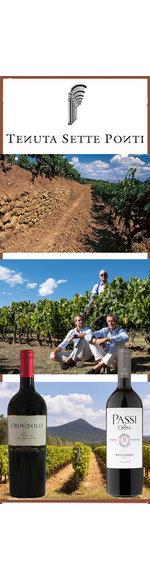Webinar Toscane - Bolgheri DOC - Sette Ponti  - Vrijdag  11 -12-2020 - 20.00 uur excl. Wijn