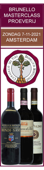Uniek - Brunello di Montalcino 2016 proeverij/workshop - zondag 07-11-2021