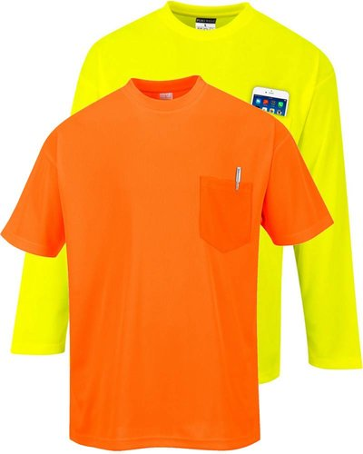 Portwest S578 Day-Vis T-shirt korte of lange mouw