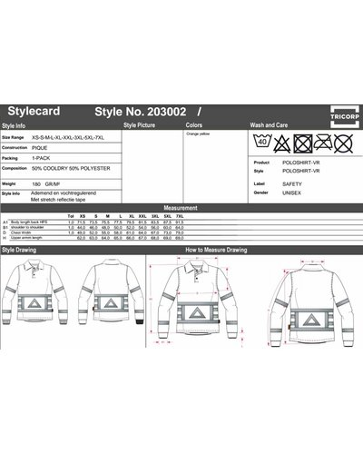 Tricorp Poloshirt-VR Verkeersregelaar polo