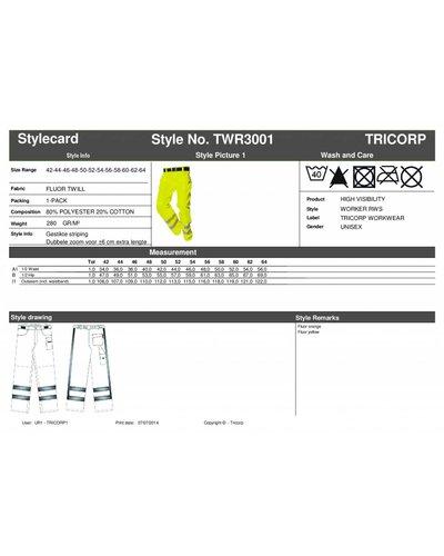 Tricorp Werkbroek met striping en reflectie aan de pijpen