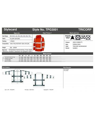Tricorp TPG3001 High Visibility Parka RWS