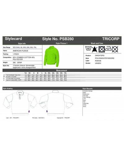 Tricorp PSB280 Groene Polosweater met boord aan de onderzijde