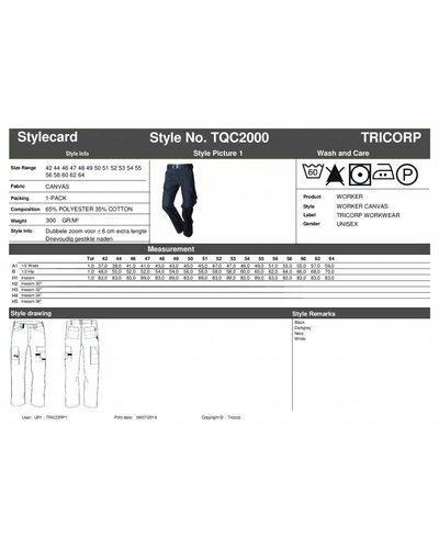 Tricorp Schilderwerkbroek van Tricorp model TQC2000