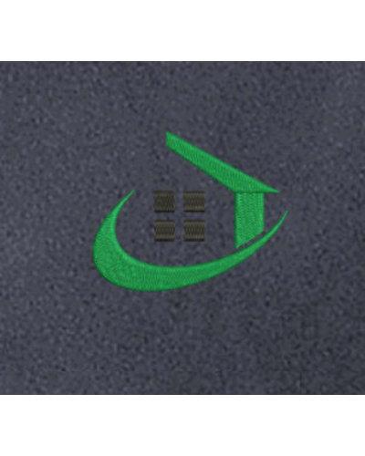 Borduren van het De Kozijnenfabriek logo op een kledingstuk naar keuze
