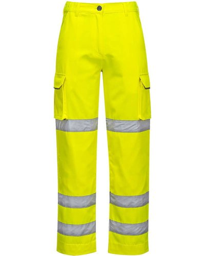 Portwest LW71 Dames Hi-Vis Werkbroek in geel of oranje