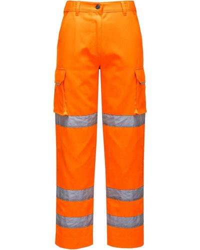 Portwest Dames Hi-Vis Werkbroek in geel of oranje