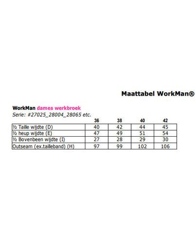 Workman 2.7025 Dames model werkbroek met holsterzakken