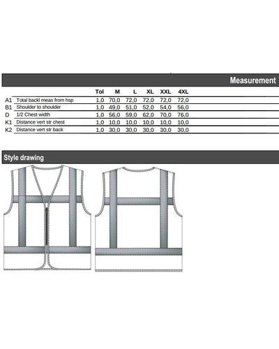 Tricorp Veiligheidsvest RWS Vlamvertragend V-RWS-FR-ZIP Fluor