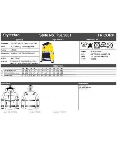 Tricorp TSE3001 Softshell jas EN471