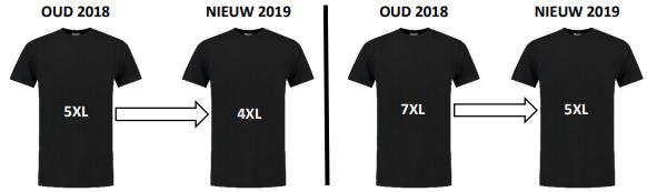 Oud 2018 Nieuw 2019 Tricorp maat