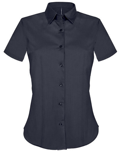 Kariban K532 Dames Stretch Blouse Korte Mouwen