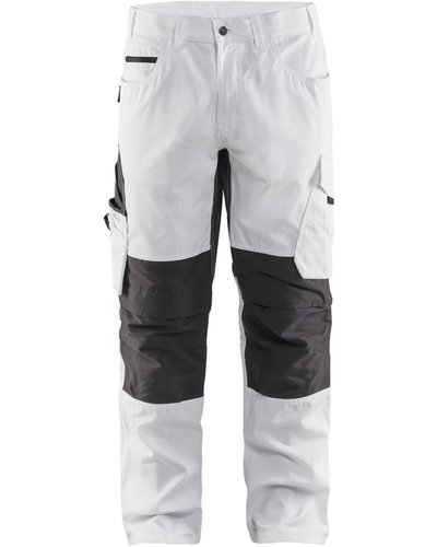 Blaklader 1095.1330 Stretch Schildersbroek in wit met donkergrijs