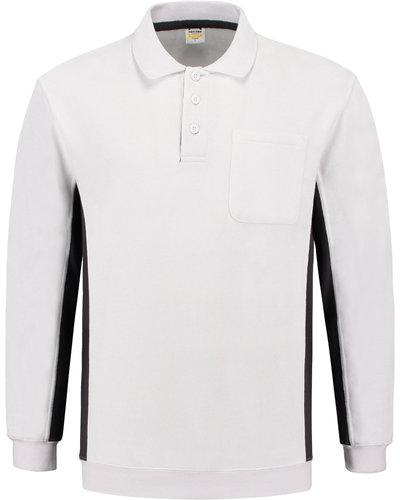Tricorp TS2000 2-kleurige witte polosweater voor schilders of stucadoors