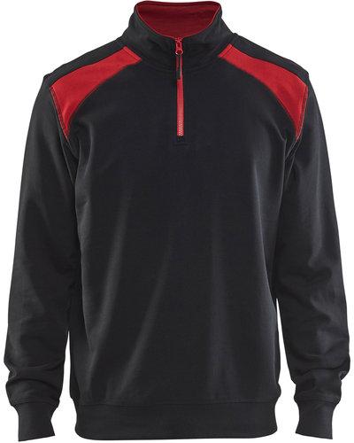Blaklader 3353 Sweatshirt 2-kleurig met halve rits