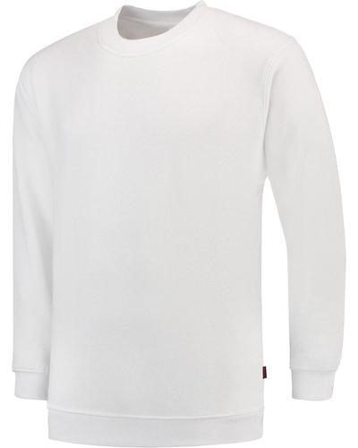 Tricorp Witte Sweater met ronde hals voor schilders en stukadoors