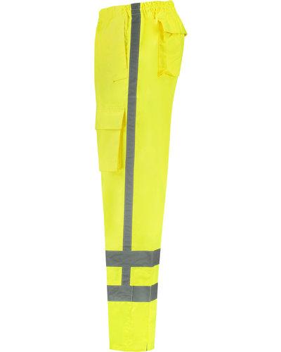 Tricorp TPA-3001 Regenbroek met striping in het geel