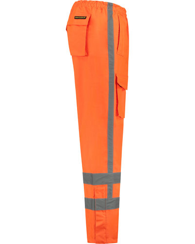 Tricorp TPA 3001 Regenbroek met striping in het oranje