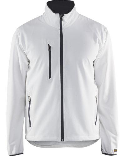 Blaklader 4952 Lichte softshell jas Wit/Grijs/Zwart