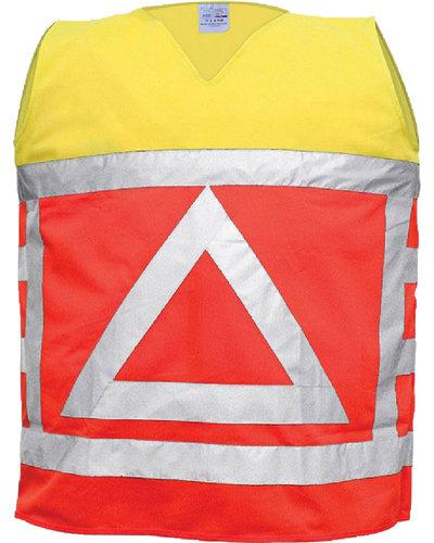Verkeersregelaarsvest geel/oranje