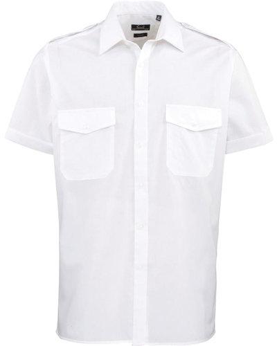 Piloten Overhemd Korte Mouw PR212
