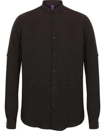 Russell H592 Mandarin Shirt met Roll-Tab Sleeve