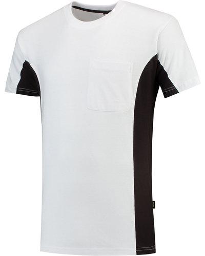 Tricorp TT2000 2 Kleurig Wit/ grijze T-Shirt met borstzak voor schilders en stukadoors