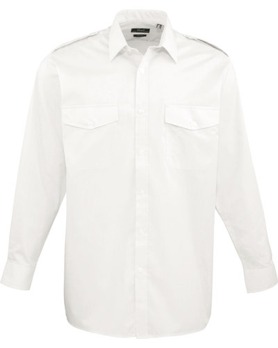 Premier PR210 Piloten overhemd lange mouwen