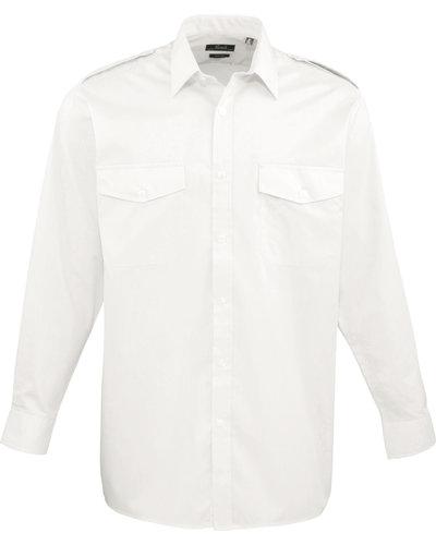 Premier PR210 Piloten overhemd met lange mouwen