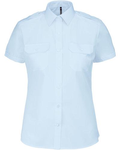 Kariban K504 Pilootoverhemd Dames, Korte Mouw