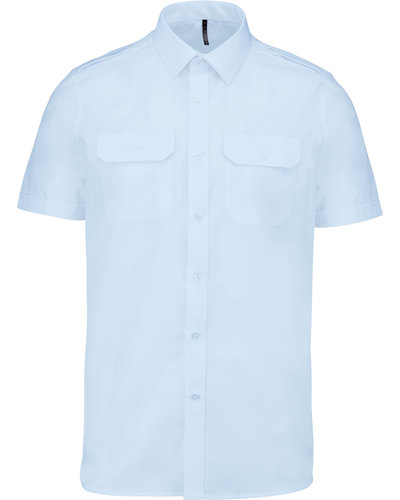 Kariban K503 Herenpilootoverhemd Korte Mouw