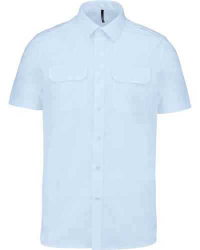 Kariban K503 Pilootoverhemd Heren, Korte Mouw