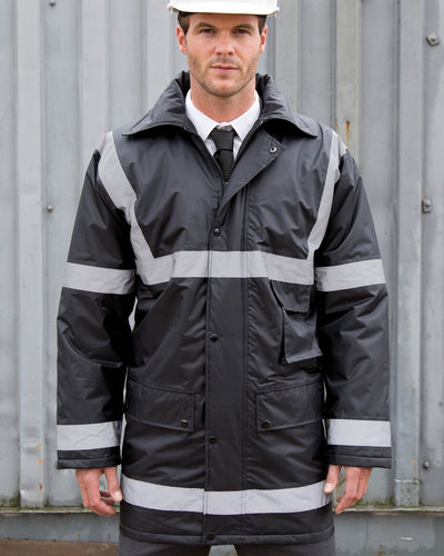 Result R23 Parka met striping