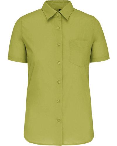 Kariban Dames Overhemd Korte Mouw. 13 Kleuren