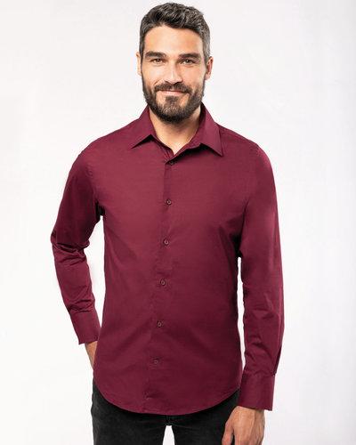 Kariban K529 Heren Stretch Overhemd Lange Mouw