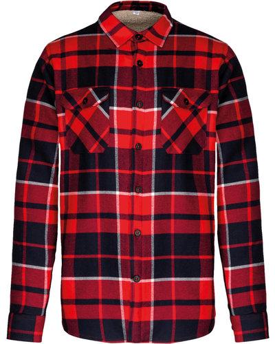 Kariban K579 Geruit Overhemd met Sherpavoering
