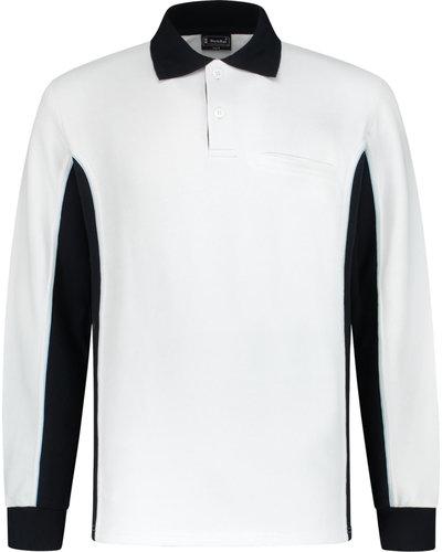Workman Bi-Colour Polosweater