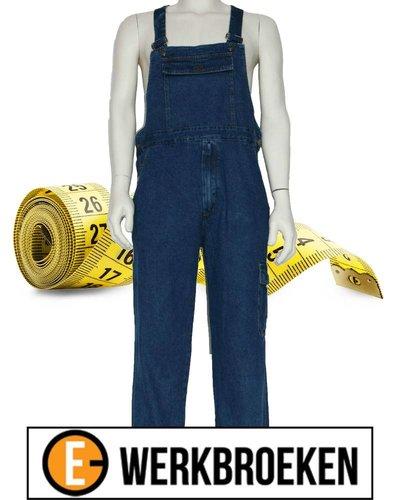 Huismerk Tuinbroek Jeans maatinfo