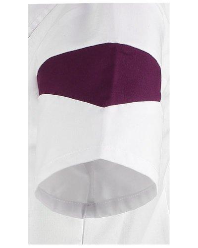 Haen Zorgjas voor dames met drukkerssluiting en contrast kleuren