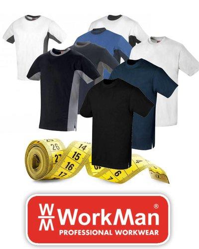 Workman T-Shirts (elk type) maatinfo